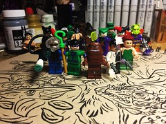 Team Riddler (Lord Allo) Tags: lego batman the video game team riddler twoface poison ivy clayface joker harley quinn scarecrow mad hatter classic penguin bane killer croc catwoman manbat ras al ghul hush moth