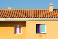 Yellow house with orange toof tiles (Jan van der Wolf) Tags: map16839v roof rooftiles dakpannen yellow geel windows ramen house huis grancanaria