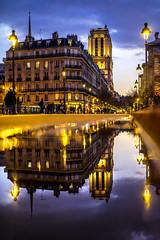 Paris, France - miroir, miroir, qui est la plus belle d'entre toutes ? (pierrepphotography) Tags: paris notredamedeparis france puddle reflections church
