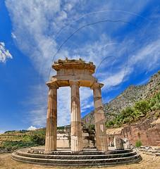 Tholos of Athena Pronaia panorama (Dimitil) Tags: athena athenapronaia delphi hellas tholos unesco unescoworldheritage monument ancientgreece amphissa fokida greecehellas