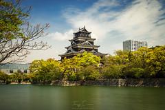 Hiroshima castle (Jorge Císcar) Tags: azulblue castillocastle chugoku edificiobuilding filtrond10pasosndfilter10stops filtropolarizadorpolarizingfilter hiroshima hiroshimacastle hiroshimacastlegardens lagolake monumentomonument naturalezanature nikond610 paisajedeciudadcityscape parquepark tamron2470mmf28vc vacacionesholidays verdegreen viajetravel japón japan fotografíadeviaje travelphotography largaexposición longexposure