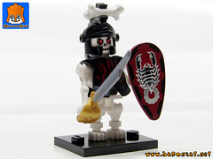 SKELETON ARMY 06 (baronsat) Tags: skeleton army lego minifig custom combo mix warriors battle undead magic game war knight tabletop