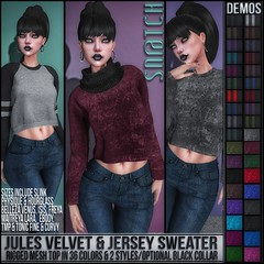 Sn@tch Jules Sweater Vendor Ad LG (Tess-Ivey Deschanel) Tags: sntch snatch secondlife sl second style sexy specials clothing clubwear clothes women winter womens mesh model meshclothing meshclothes models iveydeschanel ivey ihearts deschanel dresses dress designer discount skirts sweaters costumes casual punk pixels pants pulse pvc party