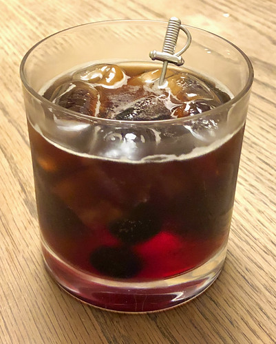 Sunday night is sponsored by dark rum, cherry brandy and a splash of coke, with a couple of maraschino cherries for luck. 🍒