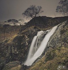 Dove Falls (►►M J Turner Photography ◄◄) Tags: dovedale dovefalls waterfall cascade lakedistrict cumbria england uk unitedkingdom river beck stream snow winter unesco worldheritagesite unescoworldheritagesite