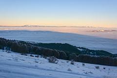 Vitosha's shadow (Rivo 23) Tags: vitosha mountain bulgaria sofia field fog mist winter scene sunset shadow mount витоша планина българия софийско поле софия мъгла