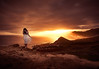 Self-Portrait. Madeira 2018 (amanecer334) Tags: sun sunset madeira portugal travel artistic golden orange sky color intensive girl woman female brunette portrait dress whitedress conceptual view mountains amazing fire warm