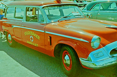 Studebaker AMBULET (gg1electrice60) Tags: carshow oldcarshow classiccarshow automaticswitchcompamy automaticswitchco florhampark newjersey nj morriscounty unitedstates usa us america parkinglot studebaker ambulet ambulance car hanoverrd vreelandroad redcross