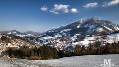 Ybbsitz (Mr. Oliver976) Tags: snow mountain ybbsitz view image landscape landschaft natur nature prochenberg winter frost dorf village niederösterreich aussicht canon 6d pano wald wood wiese austria österreich