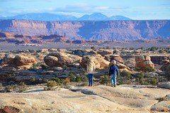 The Kids On The Slickrock Trail (Joe Shlabotnik) Tags: nationalpark utah violet hiking 2017 canyonlands everett november2017 canyonlandsnationalpark afsdxvrzoomnikkor18105mmf3556ged