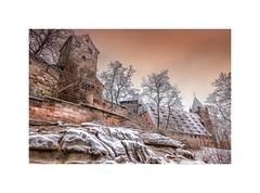 Kaiserburg Nürnberg im Winter (linke64) Tags: deutschland germany burg kaiserburg nürnberg winter schnee jahreszeiten rahmen