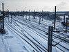 tracks (Johnson Cameraface) Tags: 2018 february winter olympus omde1 em1 micro43 mzuiko 1240mm f28 johnsoncameraface urban snow doncaster southyorkshire storm weather cold brrr doncasterstation eastcoastmainline railway train tracks plantworks wires