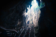 Ancient batu cave, Kuala Lumpur Malaysia (Patrick Foto ;)) Tags: ancient asia asian batu cave cavern caves culture destination earth famous festival hindu hinduism historic history holy indian inside interior kuala landmark limestone location lumpur malaysia mountain natural nature oriental people place pray praying religion rock sacred shrine spirituality stairs steps stone sunlight temple thaipusam tourism tourist traditional travel worshippers batucaves selangor my