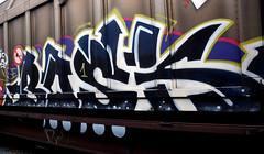 graffiti on freighttrains (wojofoto) Tags: amsterdam graffiti streetart nederland netherland holland cargotrain vrachttrein freighttraingraffiti freighttrain fr8 bask wojofoto wolfgangjosten