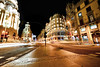 Gran Via at night in Madrid, Spain (` Toshio ') Tags: toshio madrid spain europe european spanish europeanunion granvia architecture street longexposure lighttrails cars traffic downtown city fujixe2 xe2