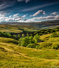 Dent Head Viaduct (peterwilson71) Tags: viaduct fields stone walls sky rail trees view yorkshire beautiful walks canon6d