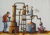 Distillation (Victoria Lea B) Tags: mural grapes distillery florio sicily italy distillation winery marsala