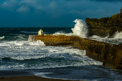 Portreath Harbour (jpearce2307) Tags: portreath harbour cornwall uk weather storm gales springtides