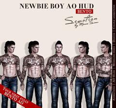 SEmotion Newbie Boy AO HUD v.3.8 - Your first fully BENTO hands AO for 1L$! (SEmotion by Marie Sims) Tags: secondlife ao anim animation bento sl hands semotion hud