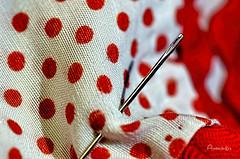 De lunares_#MacroMondays_#Speckled (Anavicor) Tags: macromondays mm hmm speckled anavillar anavicor nikon dslr d5300 tamron 90 tamron90mm lunares spots textile aguja needle eye tela fabric texture