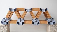Modular origami truss bridge (ISO_rigami) Tags: modular origami 3d a4 truss bridge architecture paper construction framework spaceframe zebra eckhardhennig
