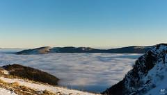 Trois pays avec la mer de nuages (Vosges, France) (AT Photographie) Tags: france suisse allemagne switzerland deutschland montagne monts vosges alpes alps forêt noire forest schwarzwald nikon nature mer nuages neige snow panorama