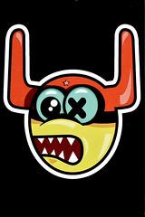 Stickers of Amsterdam ox-Alien (Marco Braun (In holidays)) Tags: holland walart graffiti stencil streetart black white weiss blanche noire schwarz werft amsterdam niederlande netherland nsdm sticker 2017 oxalien rot rouge red holandniederlande