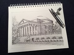 The Rotunda - University of Virginia (schunky_monkey) Tags: inkdrawing drawing draw sketching sketch fountainpen penandink ink pen illustrator illustration art dome brick building architecture americanarchitecture icon library thomasjefferson virginia uva universityofvirginia therotunda