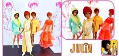 Hi! My name is Julia! (ModBarbieLover) Tags: julia fashion doll talking mod mattel jumpsuit gold silver diahann carroll barbie