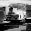 Breakfast (Denkrahm) Tags: denkrahm coffee cake baker umbrella rain germany trier lattemachiato latte