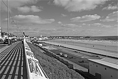 Bridlington  Black and White (brianarchie65) Tags: bridlington eastyorkshire eastcoast beaches sea waves boats water piers unlimitedphotos ngc flickrunofficial flickruk flickr flickrcentral ukflickr geotagged canoneos600d rails railings seawall reflectioninglass brianarchie65