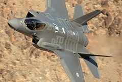 NO STEP (Dafydd RJ Phillips) Tags: dutch royal netherlands airforce f35 f35a lightning ii 2 323 tes sqn squadron evaluation test edwards afb base air force california death valley rainbow canyon jedi transition star wars panamint 5th generation fifth aircraft aviation military low level