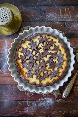 1819 Crostata cacao crema ricotta e mandorle (Patrizia Miceli - Via delle rose) Tags: crostate ricotta cacao mandorle