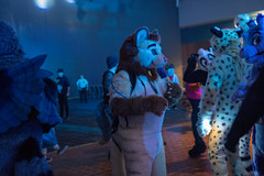 DSC01713 (Kory / Leo Nardo) Tags: furry fursuit suiting dance party dj con convention further confusion fc san jose marriott center 2018 fc2018 pupleo leo kory fur costume costuming cosplay animals
