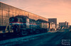 TDIX 106 (jwjordak) Tags: gp40 csxt amtk building sunset 106 rs3m overpass sd402 tdix amtrak train akron ohio unitedstates us