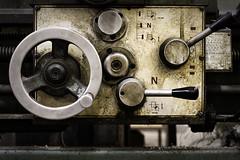 Machine Logic 101 (Jack Heald) Tags: lathe manual machine machinery gears feed levers old heald jack industrial art nikon d750