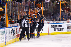 """Kansas City Mavericks vs. Toledo Walleye, January 20, 2018, Silverstein Eye Centers Arena, Independence, Missouri.  Photo: © John Howe / Howe Creative Photography, all rights reserved 2018. • <a style=""""font-size:0.8em;"""" href=""""http://www.flickr.com/photos/134016632@N02/25966338608/"""" target=""""_blank"""">View on Flickr</a>"""