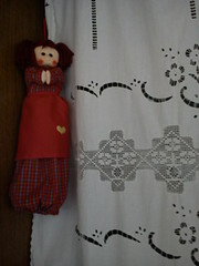 """""""Kitchen""""   DSC03862 (amalia_mar) Tags: kitchen dollcaseforbags curtain red white weeklythemes guesswhat"""