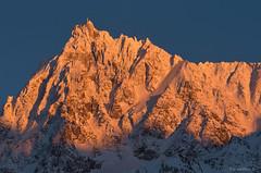 Sunset aiguille du Midi, glacier Rond (Jean-Philippe Azaïs) Tags: aiguilledumidi glacier rond sunset snow mountain chamonix