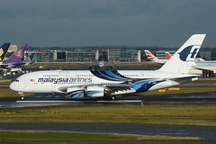 9M-MND Airbus A380-841 EGLL 15-12-17 (MarkP51) Tags: 9mmnd airbus a380841 a380 malaysiaairlines mh mas london heathrow airport lhr egll england aviation jet airliner aircraft airplane plane image markp51 nikon d7200 sunshine sunny aviationphotography