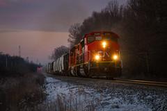Blue (Nick Brown Photography) Tags: train railroad blue hour photography photograph railfanning locmotoive emd sd402w cn