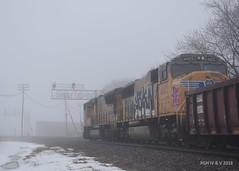 Uncle Pete's Hippie Van (R.G. Five) Tags: union pacific rochelle il diamonds train railroad