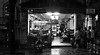 Late Night Cafe (VIETNAM) (ID Hearn Mackinnon) Tags: late night cafe vietnam vietnamese viet south east asia ho chi minh city saigon 2016 black white monochrome dark restaurant duck chicken cuisine food eatery eating dining urban