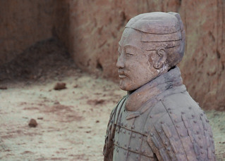 Un soldat de l'armée enterrée de Xi'An