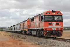 Pirie Grain Train (evenst3132) Tags: gwa fq fq04 alf alf24 australia railways port pirie loaded grainy railroad trains rocky river locomotives