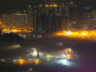 The mist covered the harbour@HK