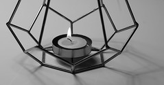 Candle light ... Day 65/365 (judith511) Tags: candle candleholder metal copper 365the2018edition 3652018 day65365 06mar18 7daysofshooting week35 corner blackandwhitewednesday