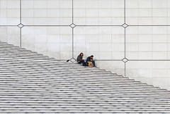 white corner (poludziber1) Tags: street streetphotography white city cityscape capital architecture abstract people paris france travel stripes stairs