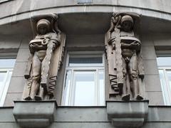 Male and Female (John of Witney) Tags: statues male female artnouveau jugenstihl sculpture prague praha czechrepublic