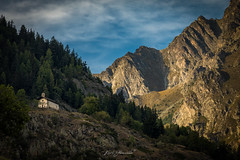 Looking up to the Alps (glank27) Tags: alps mountains valle daosta italy chapel holy trinity santissima trinita karl glanville canon eos 5d mk iv ef 70300mm f456l landscape view sky light ngc